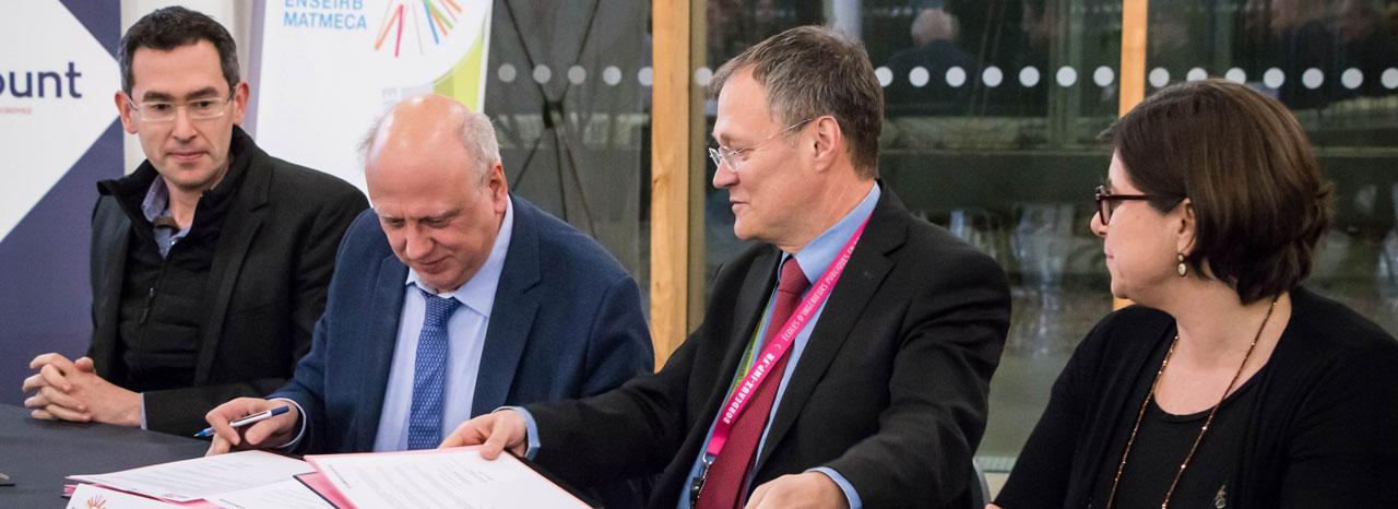 Signature de la convention de partenariat Cdiscount - ENSEIRB-MATMECA