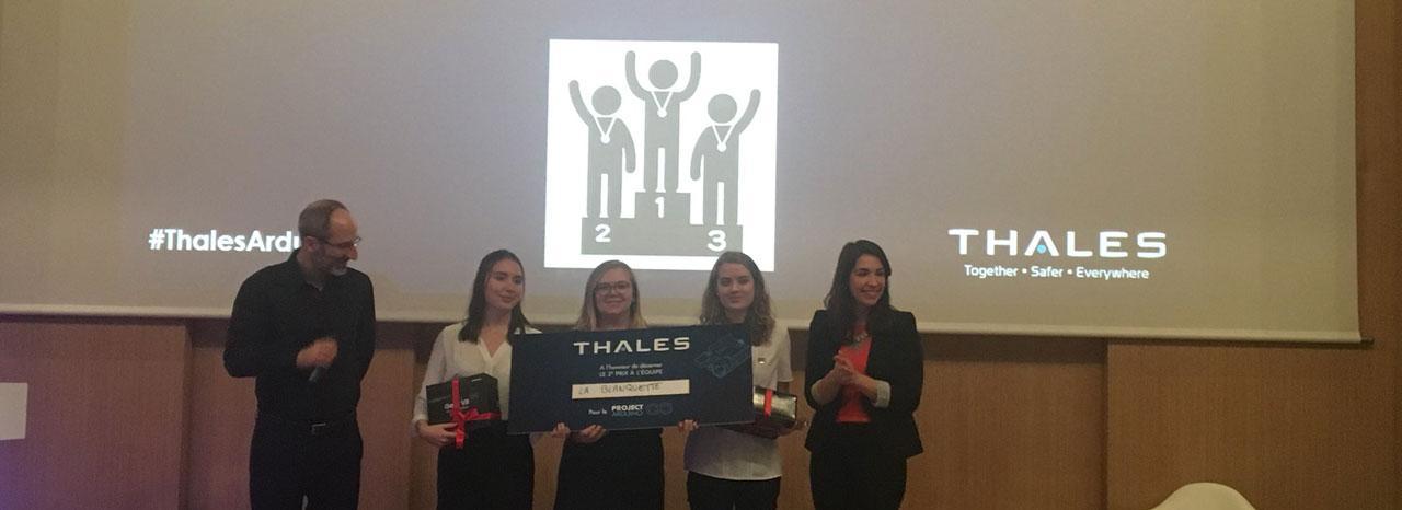 """La """"Blanquette team"""" de l'ENSEIRB-MATMECA remporte le 2ème prix du challenge international ThalesArduino"""