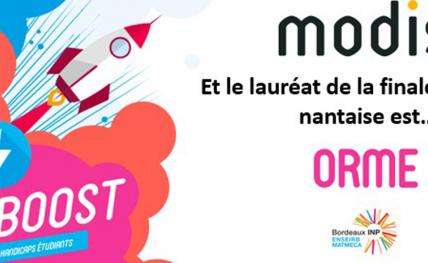 Le lauréat du concours Coup2Boost / Modis France 2020 pour la région de Nantes est le projet ORME