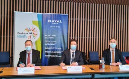 Signature d'une convention de partenariat Naval Group - ENSEIRB-MATMECA